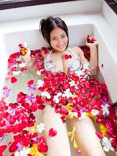 Saaya Irie Japanese girl in bathroom 13