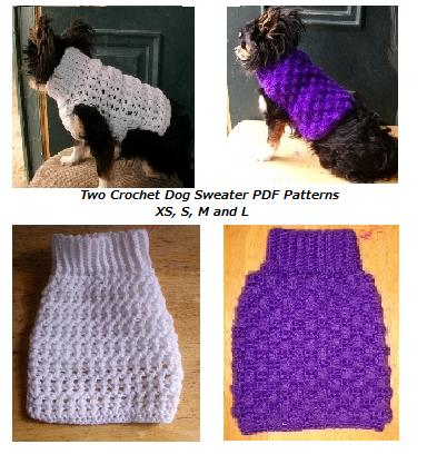 Copper Llama Studio Crochet Dog Sweaters Pdf Patterns