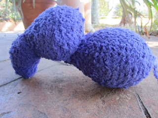 purple pachyderm progress crochet