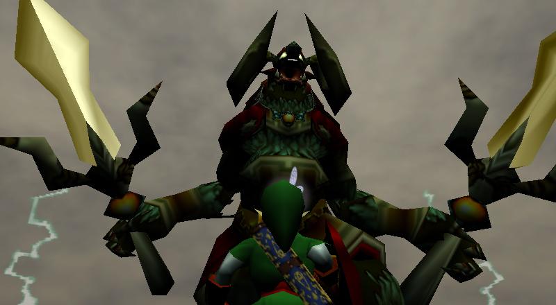 Link face à Ganondorf