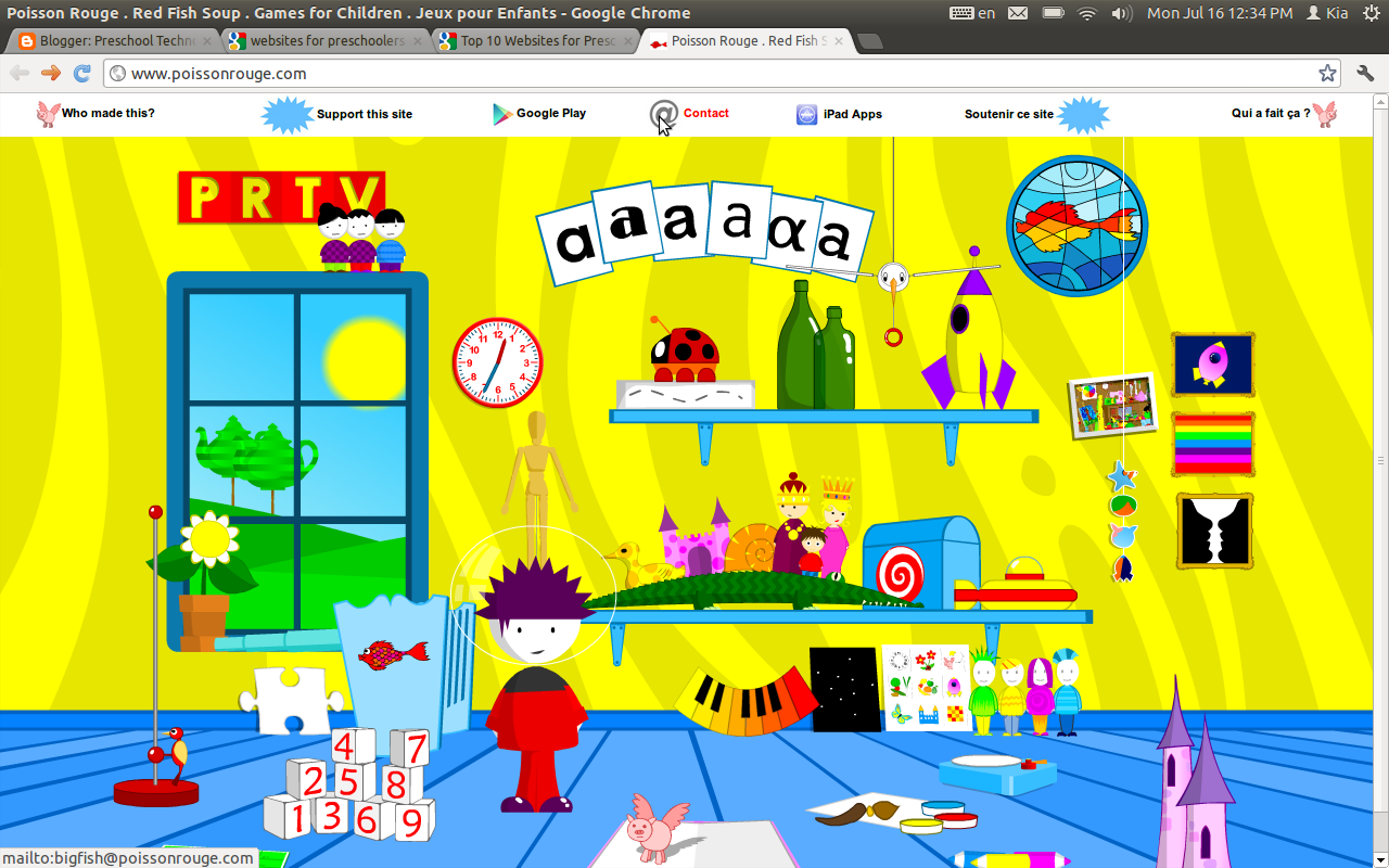 Preschool Technology Readiness: Possion Rouge, A Neat Interactive ...