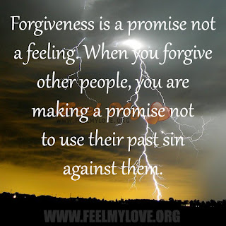 Forgiveness is a promise not a feeling