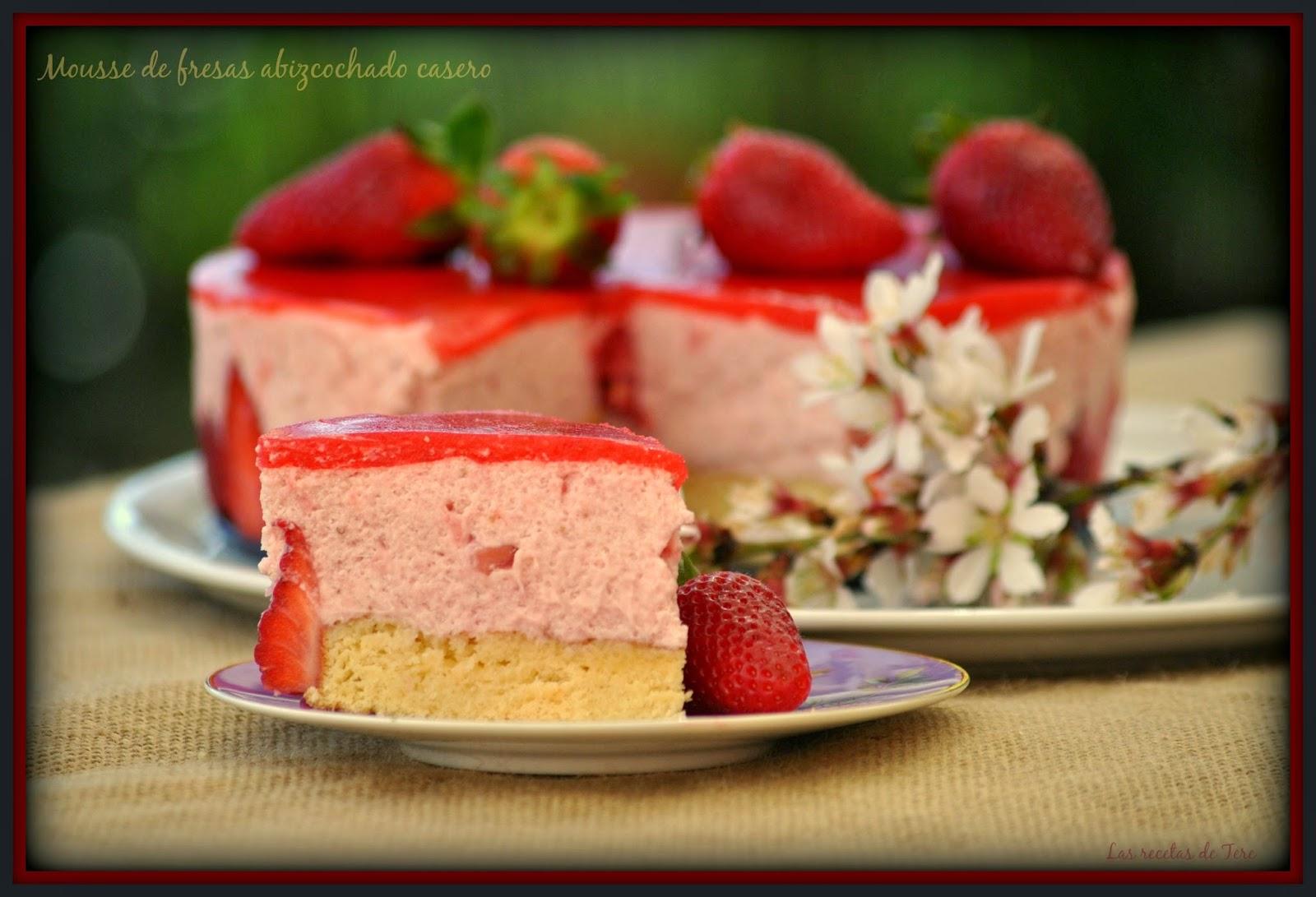 Mousse de fresas abizcochado receta de la abuela blog - Mousse de fresa ...