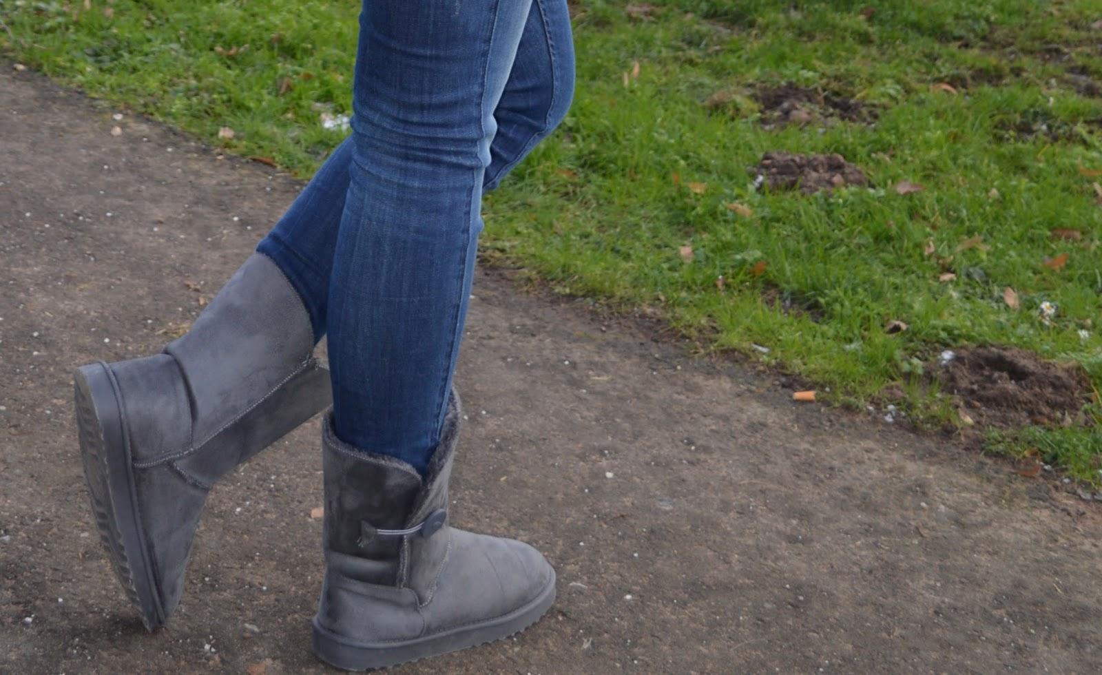 Boots - Grau - Schuhtempel24