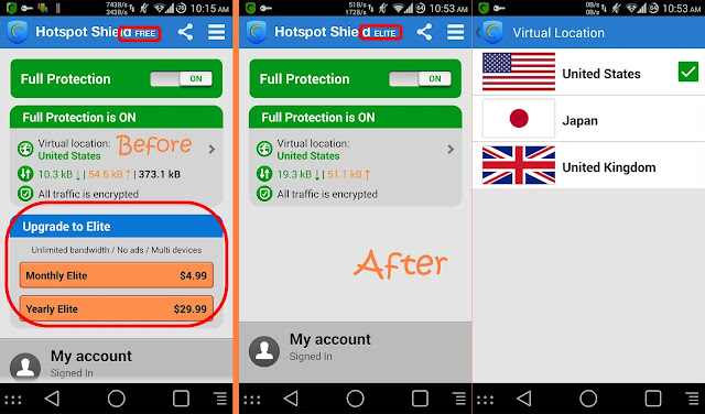 hotspot shield elite android