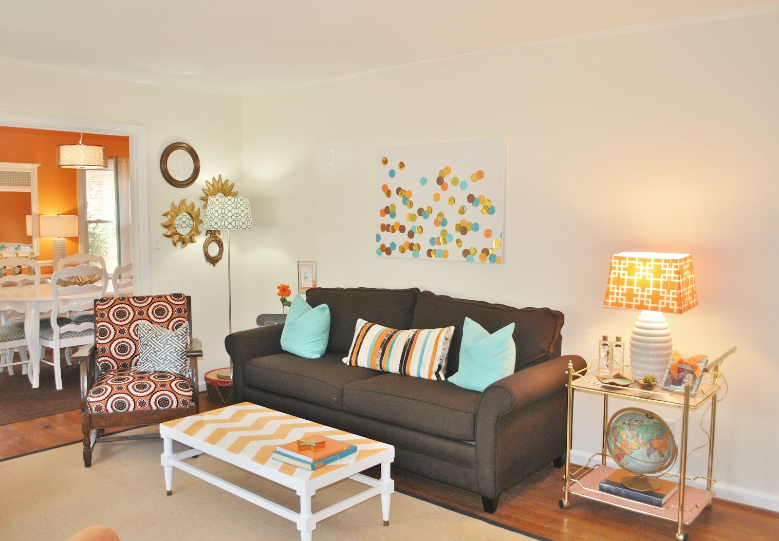 House Tour: Orange & Blue on Drake