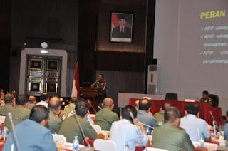 Panglima TNI Beri Pembekalan Rakorwas Inspektorat TNI dan Kemhan