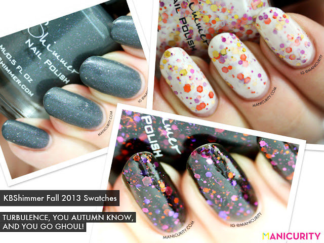 Manicurity | KBShimmer Fall 2013 Swatches & Review: Turbulence, You Autumn Know, and You Go Ghoul!