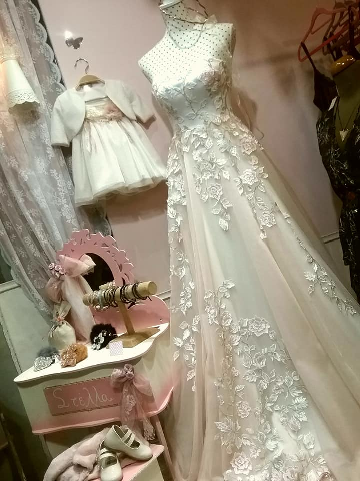 Νεα βιτρινα!!!!! Wedding and baptism dress !!!!!!
