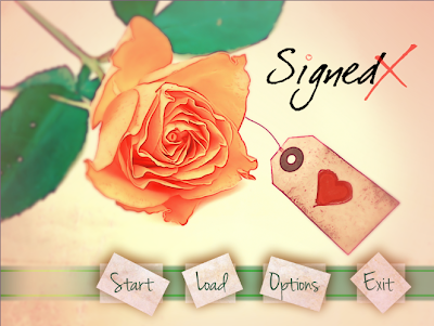 Review of Signed X, a romantic comedy visual novel by GlassHeart