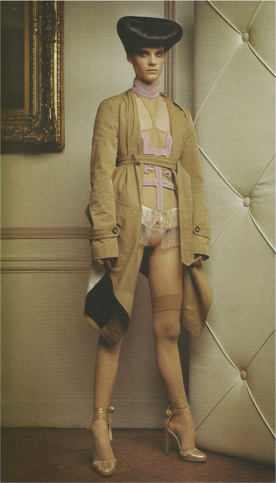 Devodotcom December 2014 Bettina Heels Netty Beige Vogue Italy 2004 Photography Paolo Roversi Bardo Fabiani Alex Cayley