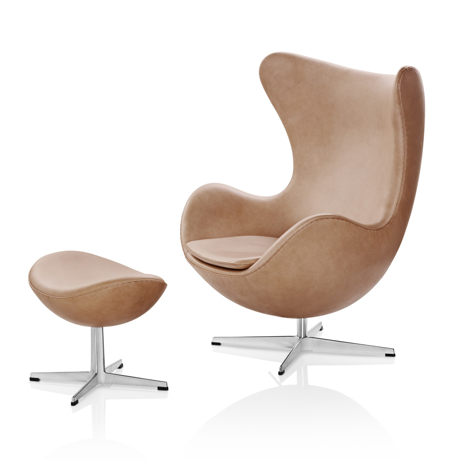 Rustic leather egg chair by arne jacobsen egg chair for Egg chair jacobsen