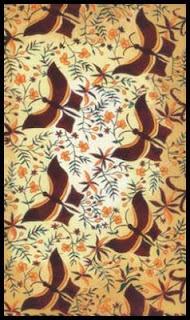 Motif batik geometris