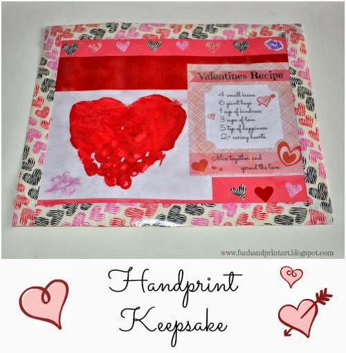 Handprint Heart Valentine's Day Keepsake & Poem #DuckValentine