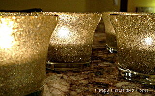 DIY Glitter Candle Holders, glitter project, DIY candle holders