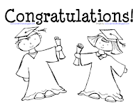 Free coloring page for kindergarten graduation freebie