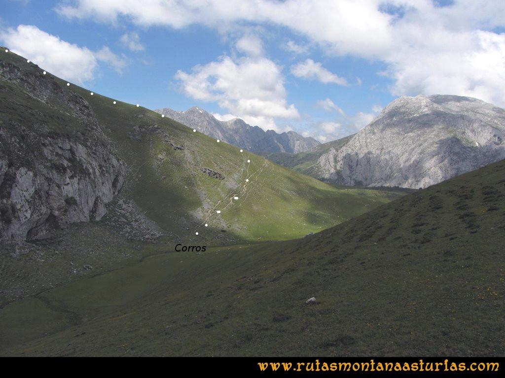 Ruta Tuiza Fariñentu Peña Chana: Camino de Braña Corros a Peña Chana