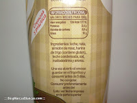 Ingredientes y valores nutricionales de la salsa bechamel HACENDADO de Mercadona