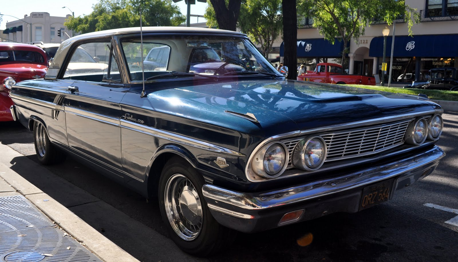 Just A Car Guy 1964 Ford Fairlane 500 Sports Coupe Original Owners Crew Cab Brought It To The Escondido Cruise