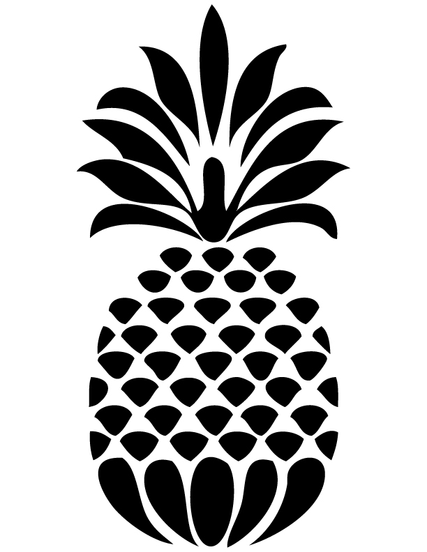 Pineapple Drawings With Patterned Designs