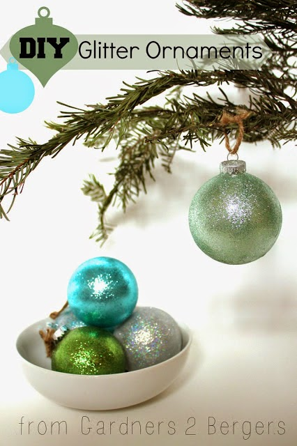 DIY Glitter Glass Ornaments