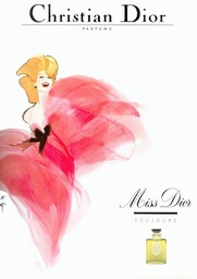 rené gruau illustration affiche parfum dior miss vanessa lekpa