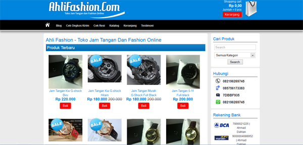 Ahlifashion.com Toko Online Fashion Terpercaya
