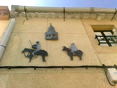 Sancho,Quijote y torre