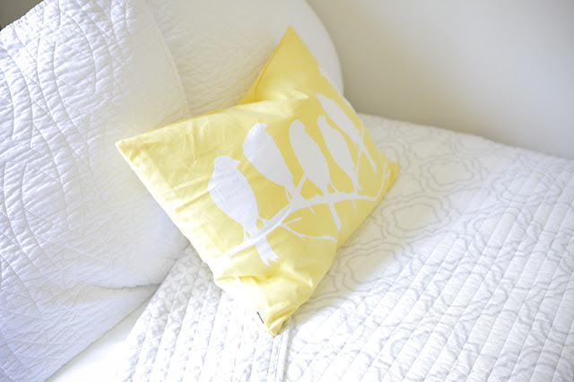 Bright accent pillow
