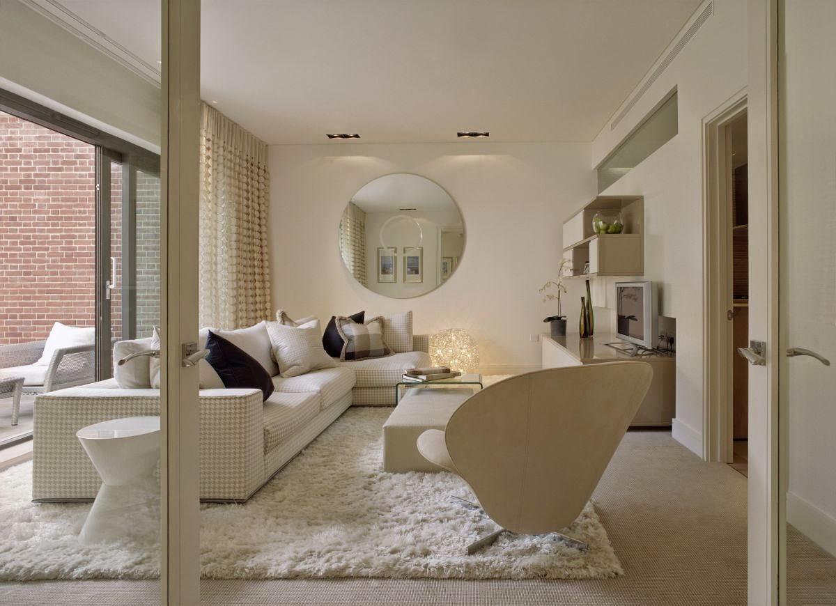 karpet bulu putih halus dan tebal ruang tamu
