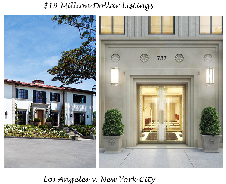 Cococozy what 19 millions dollars buys in nyc l a for Million dollar homes in la