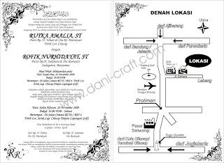 Contoh denah lokasi undangan pernikahan