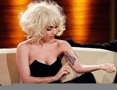 lady gaga back tattoo roses. hair Lady Gaga Back Tattoos