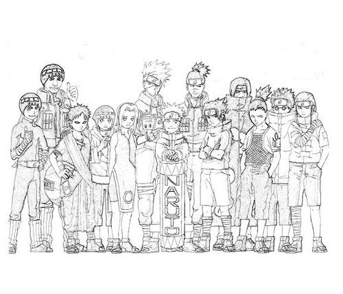 Desenhos para colorir do Naruto - imagens para colorir online do naruto