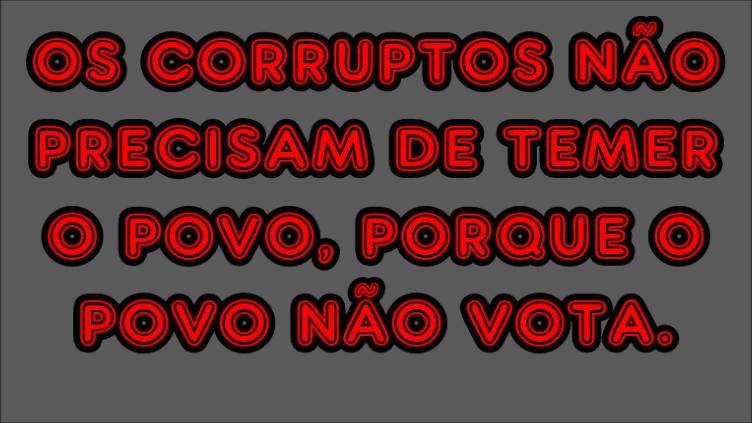 voto contra corrupção