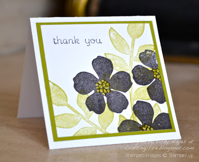 Card made with Secret Garden from Stampin' Up