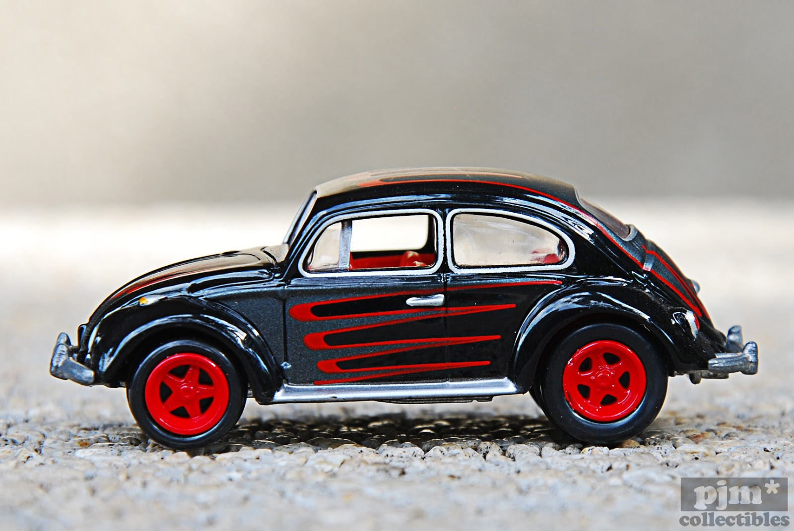 volkswagen beetle sedan black and red. Black Bedroom Furniture Sets. Home Design Ideas
