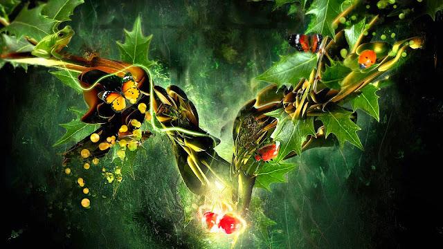 3D Frog & Butterfly HD Wallpaper