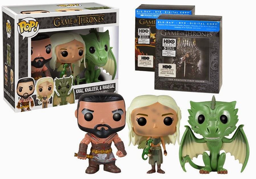 "Funko Pop! ""Burnt"" Khaleesi, ""Bloody"" Khal and Rhegal Blu Ray Bundle [Amazon Exclusive]"