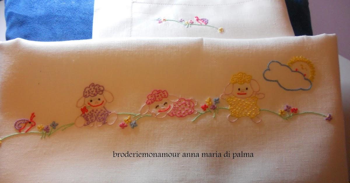 Broderiemonamour di anna maria di palma lenzuolino pecorelle - Colorazione pagine palma domenica ...