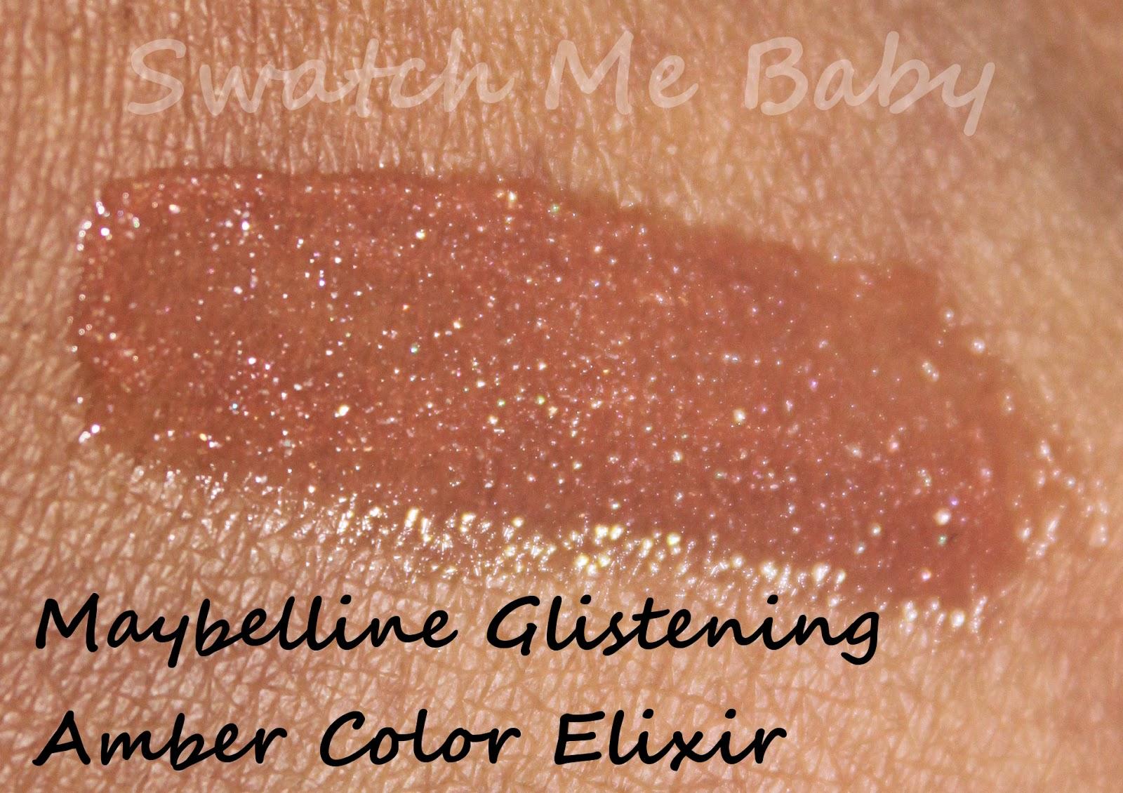 maybelline glistening amber color elixir dark skin swatch