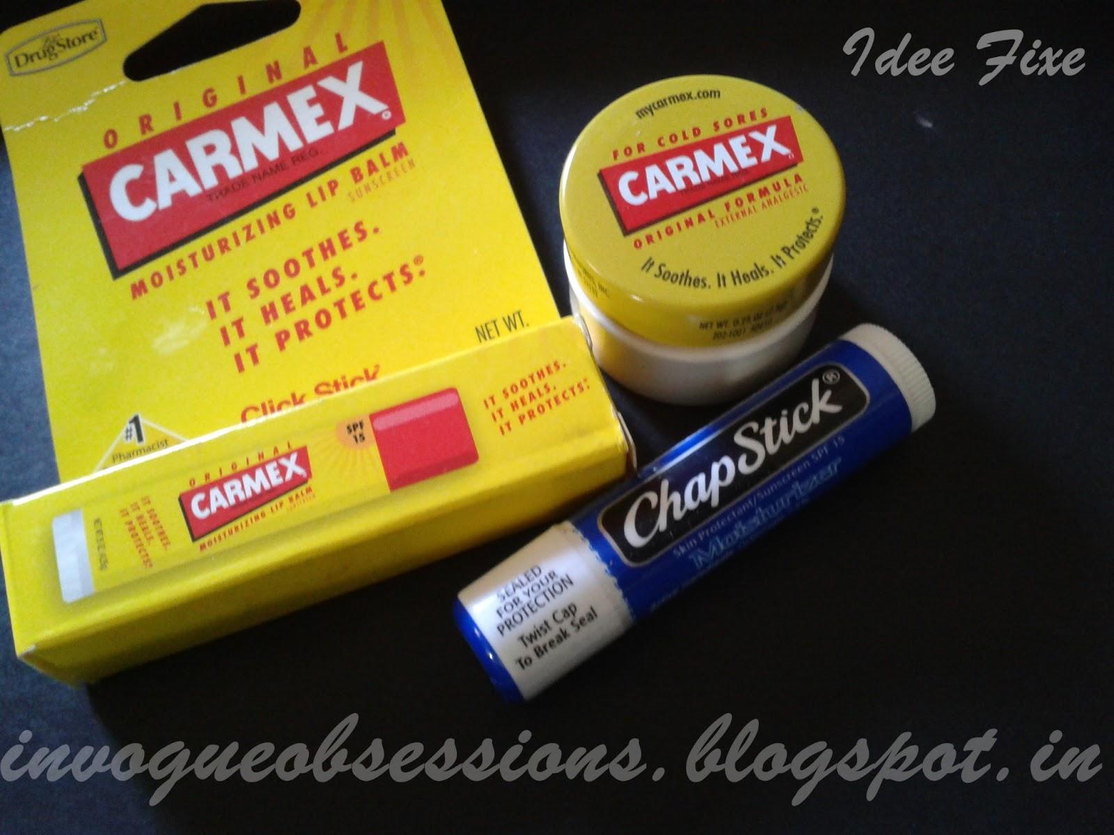 Carmex Original Formula Carmex Moisturizing Lip Balm Chapstick Moisturizer, Where to buy Carmex and Chapstick in India