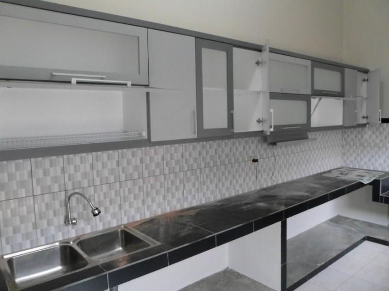 Kitchen Set Minimalis Pintu Kaca Engsel Hidrolis Kitchen Set Semarang