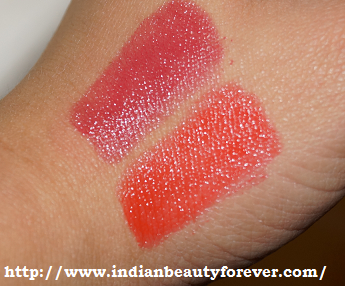 MUA POWER POUTs in Runway and Crazy in love Review and Swatches