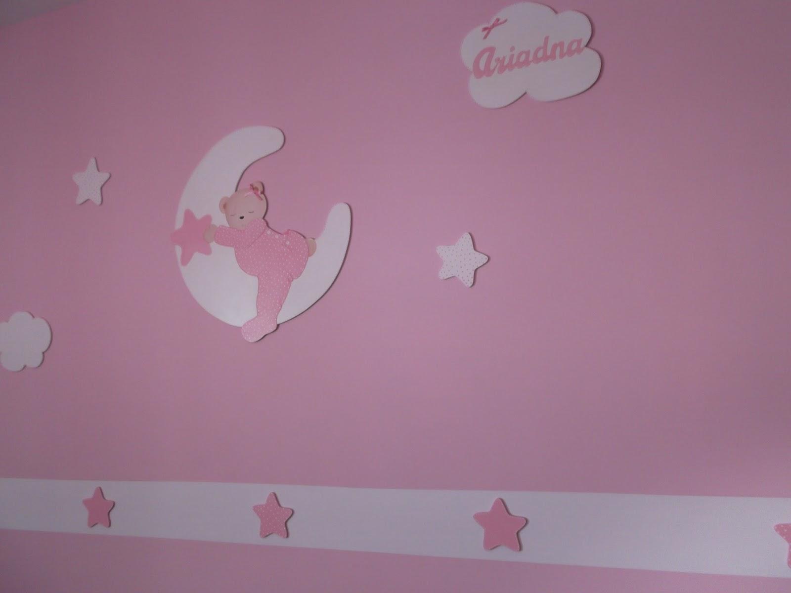 Decoraci n infantil pekerines habitacion bebe ni a - Pintura habitacion bebe nina ...