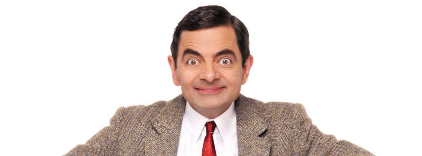Rowan Atkinson as MR Bean facebook cover