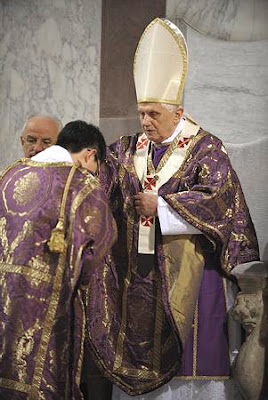 Pope Benedict XVI vestments