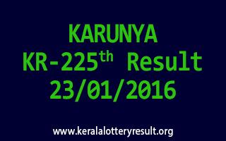 KARUNYA KR 225 Lottery Result 23-01-2016
