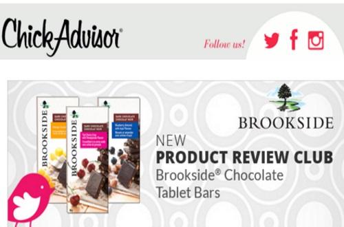 Chickadvisor Free Brookside Chocolate Tablet Bars