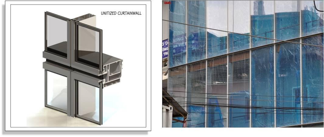 Unitized Glass Curtain Walls : Glass cladding
